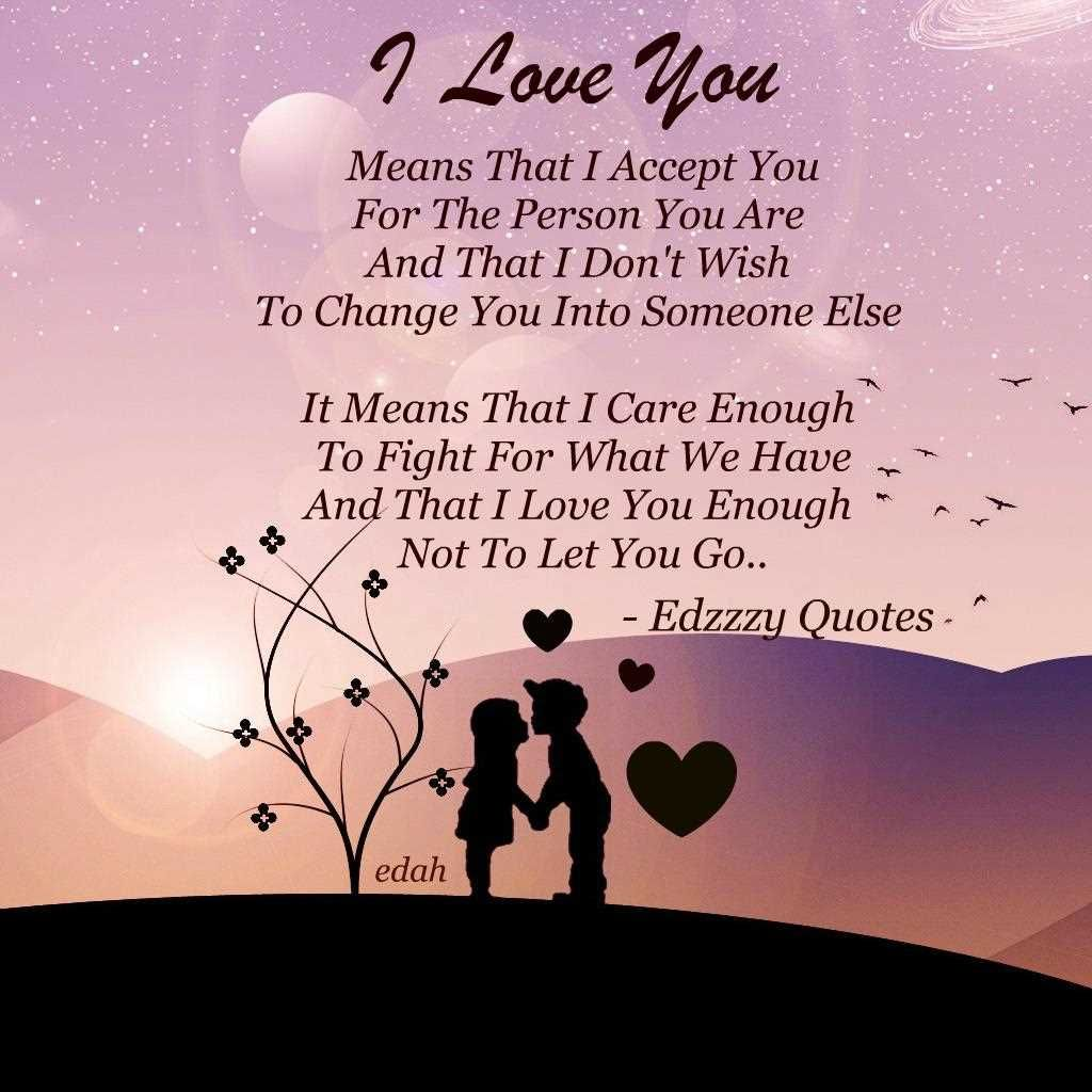 Heart Felt Inspirational Quotes About Love  I love you pictures