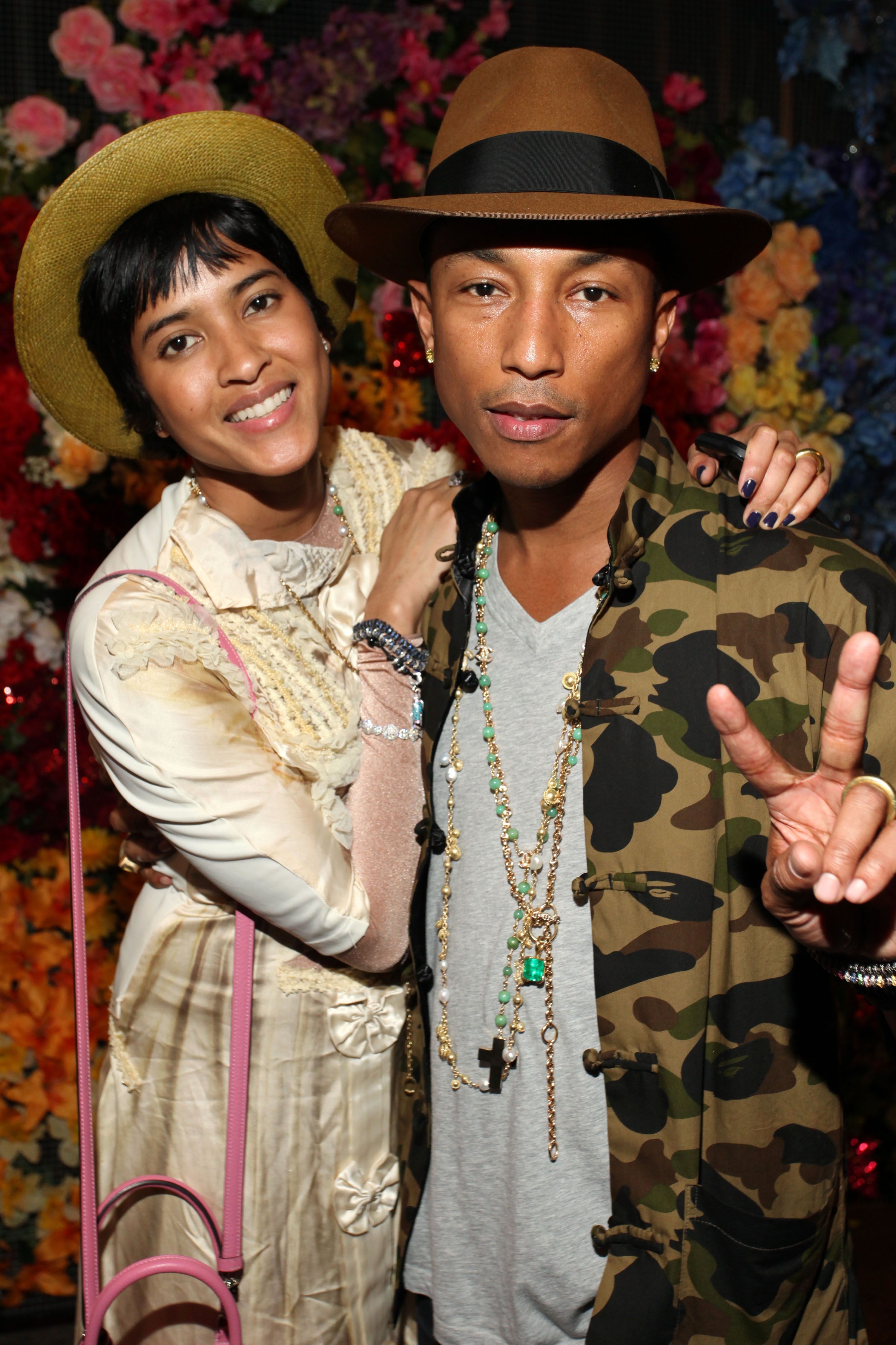 Pharrell Williams Wife Helen Lasichanh and Son Rocket Man ...