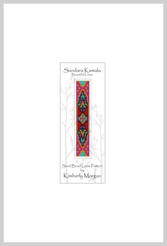 Sundara Kamala Seed Bead Loom Pattern PDF contains Labeled