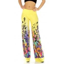 Many NEW Palazzo Pants have been added! Double layered waistband for extra support, high waistband can be rolled down for a different look. Styled with a flattering fold-over waistband. 92% Polyester 8% Spandex