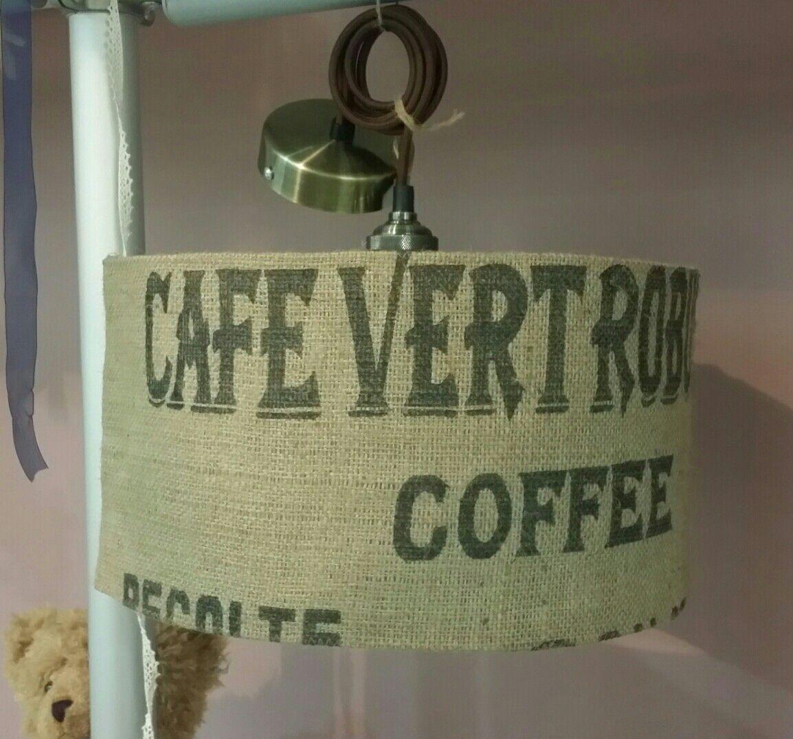 Suspension sac à café. Cordon vintage