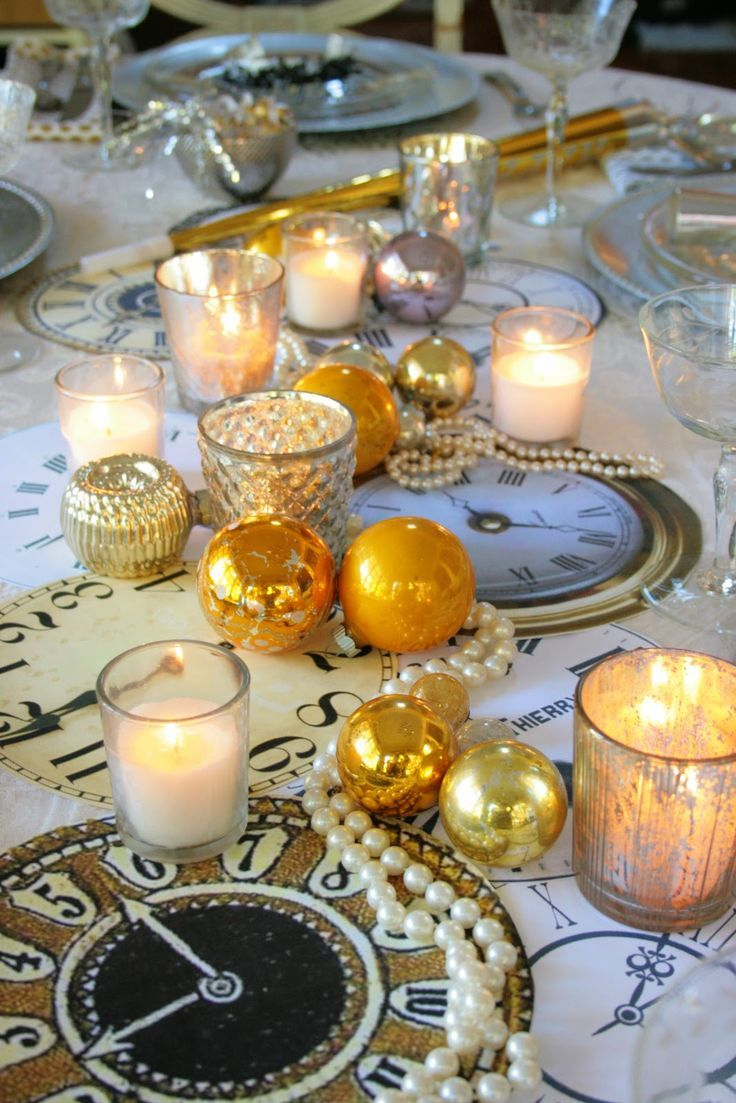 Inspirations pour le Nouvel An New years eve table