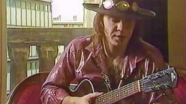 Lost Footage Of Stevie Ray Vaughan Shredding An Acoustic Guitar