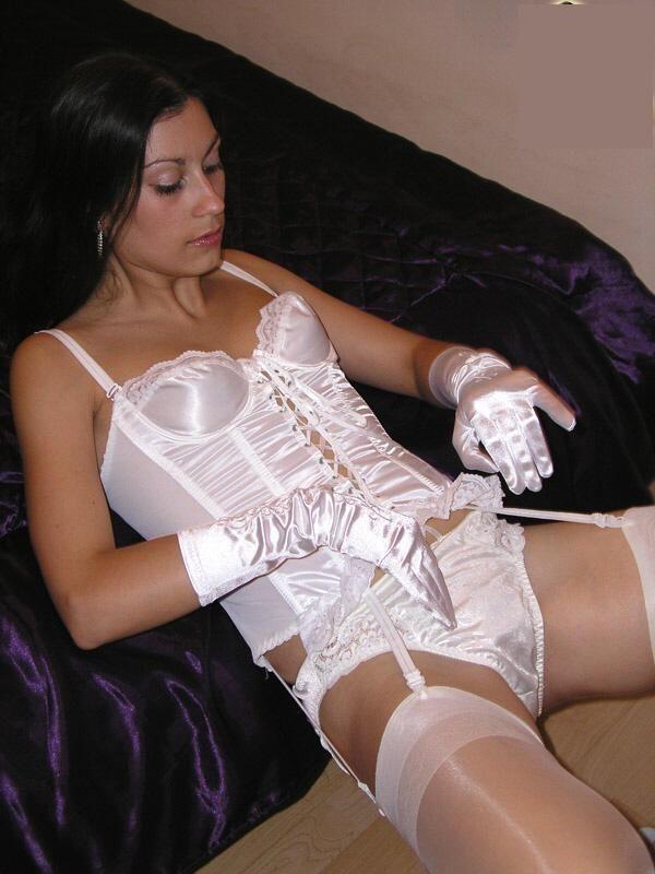 Silk satin lingerie
