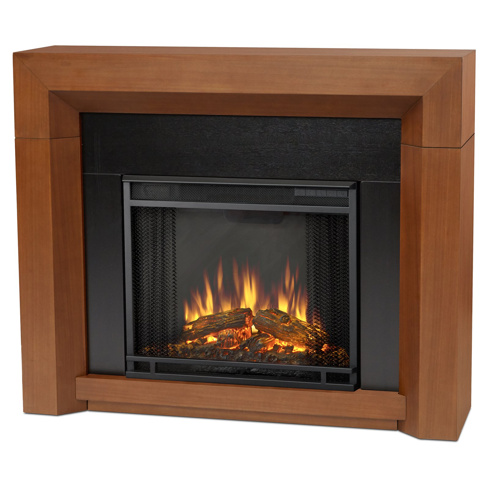 Real Flame Hughes Electric Fireplace Black Maple Fireplace