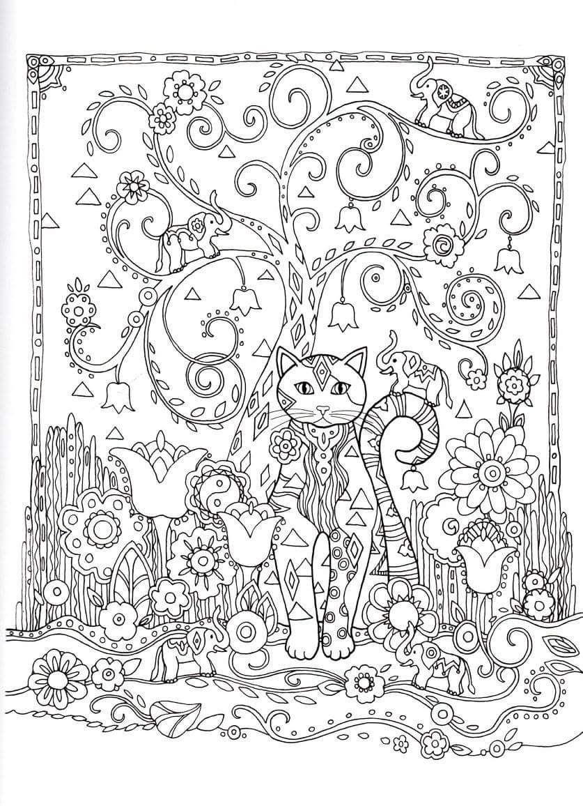 Gatos para Colorir | Mand | Pinterest | Colorear, Gato y Mandalas
