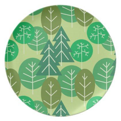 Forest Trees Outdoors Summertime C&ing Woodland Melamine Plate - diy cyo customize create your own personalize  sc 1 st  Pinterest & Forest Trees Outdoors Summertime Camping Woodland Melamine Plate ...