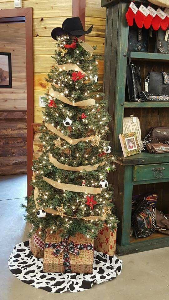 Western Christmas Tree Decorations.Cowboy Christmas Tree Cowgirl Christmas Western