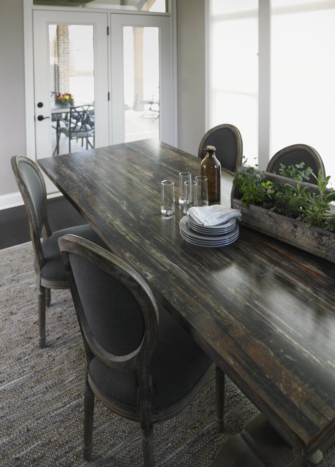 Dining Room With 180fx® Laminate Petrified Wood Dining Room Table Click  Through To Get A
