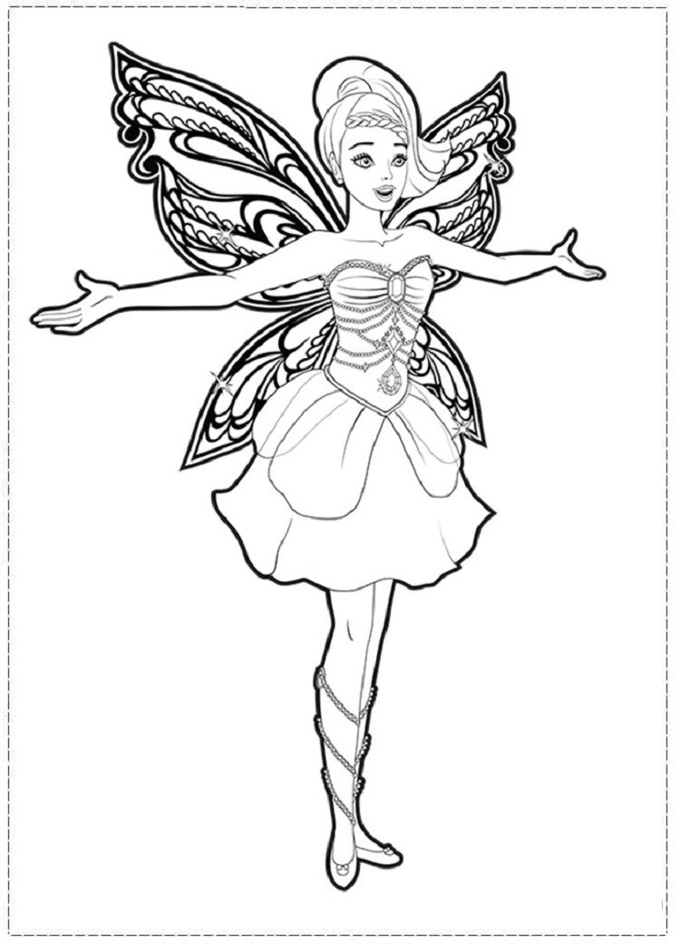 fairy princess coloring pages # 0