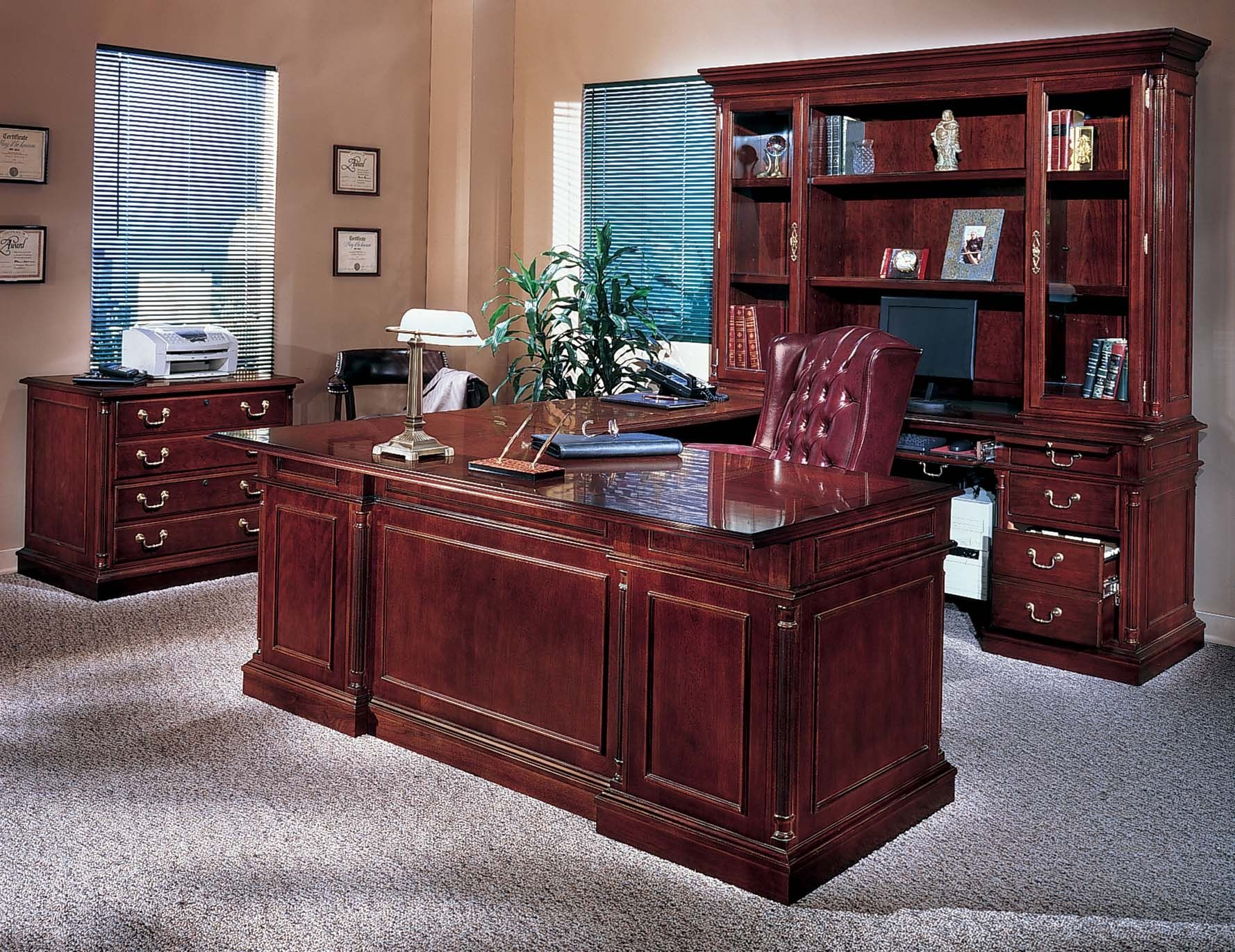 Cherry wood home office desks imanage pinterest
