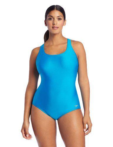 32c73bea9b586 Speedo Women s Plus-Size Aquatic Xtra Life Lycra Solid Ultraback Swimsuit