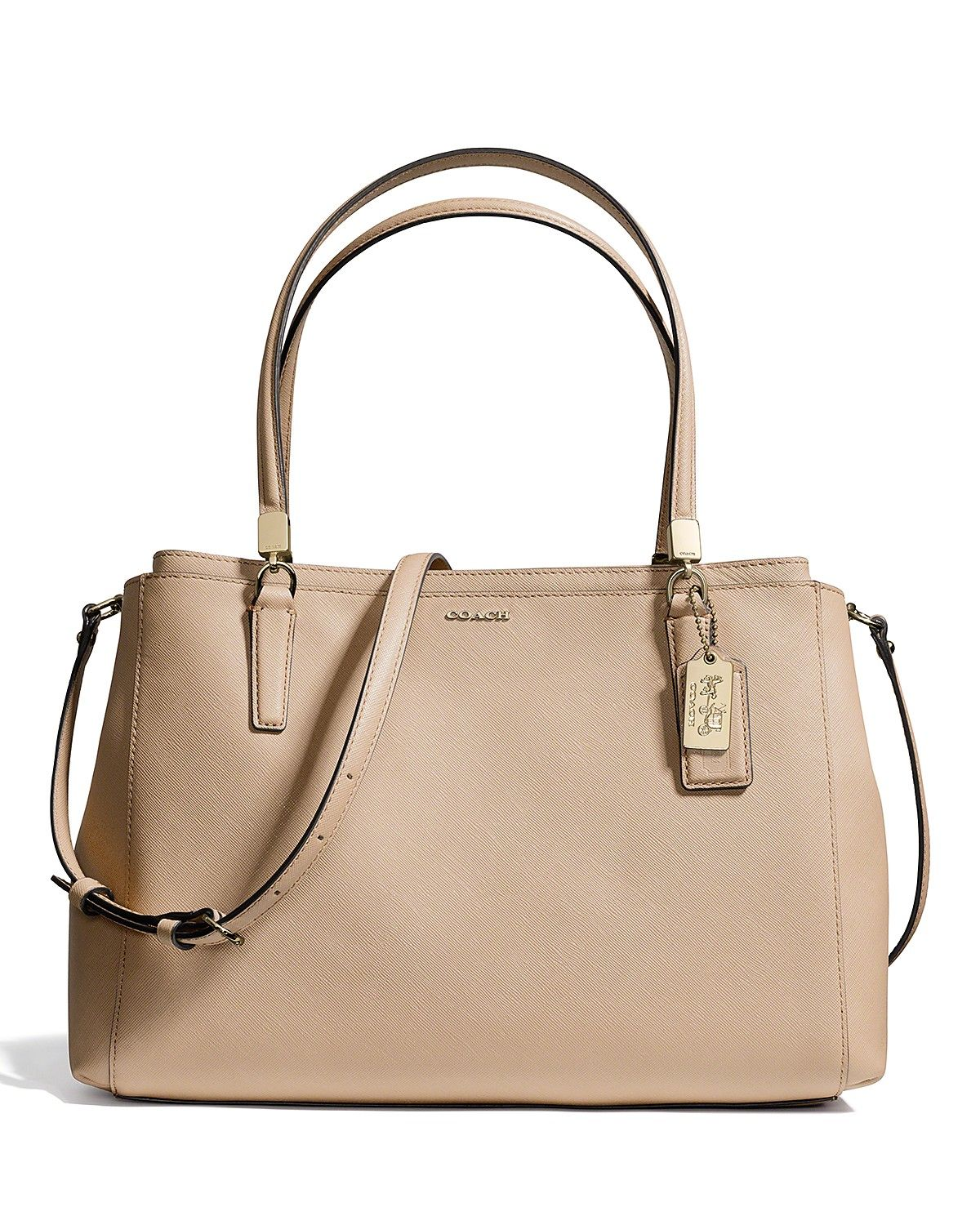 COACH Madison Christie Carryall Tote in Saffiano Leather Handbags ...