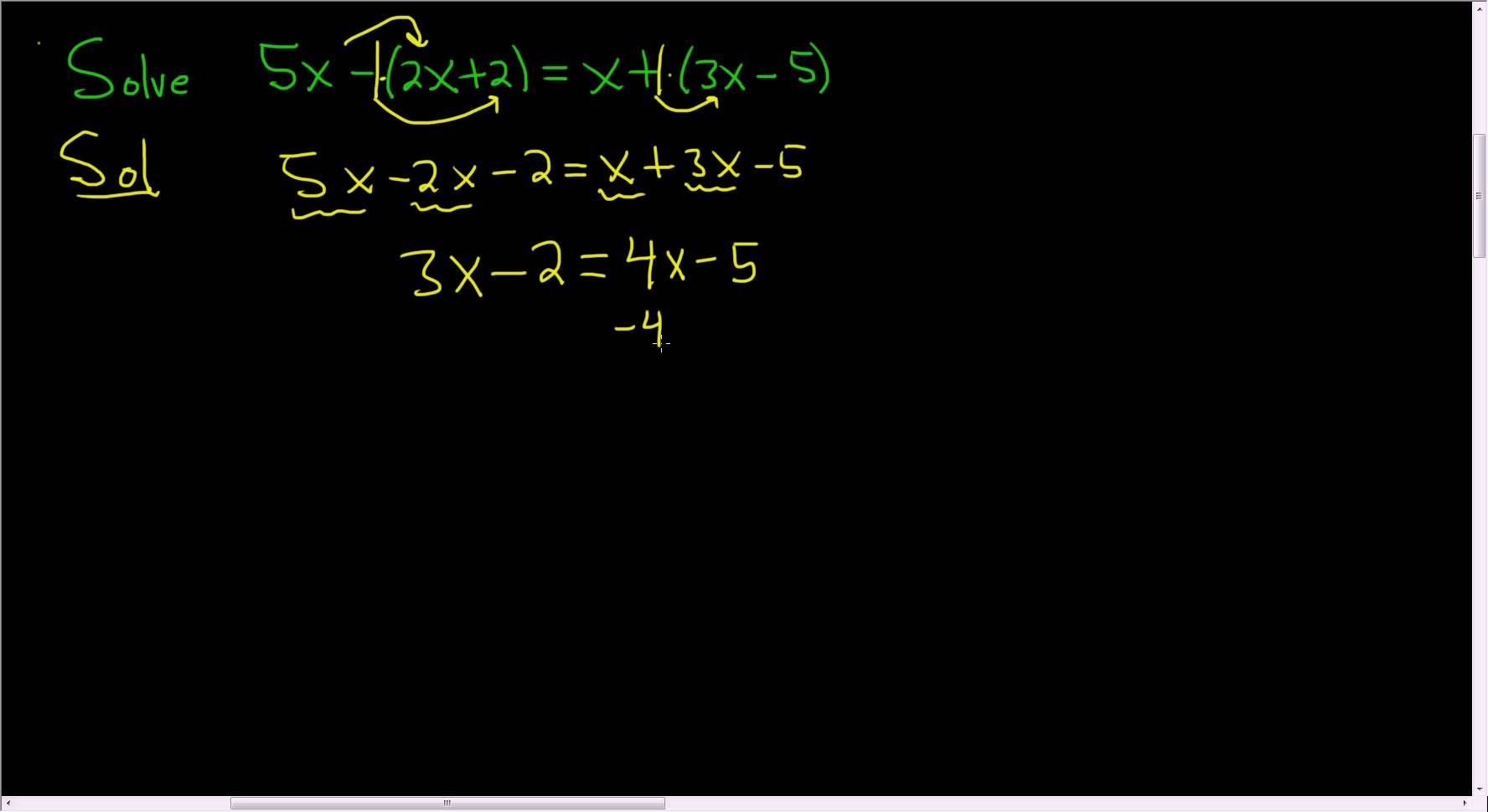 Solving A Linear Equation Example 12