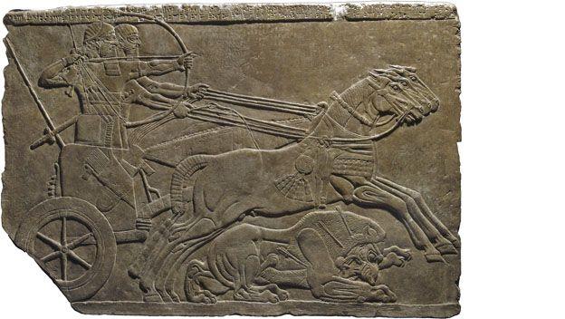 assurnasirpal ii killing lions