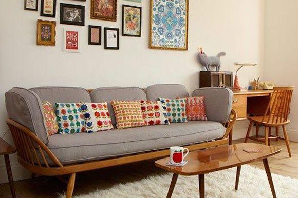 Decoracion de living comedor vintage for Muebles para decorar living
