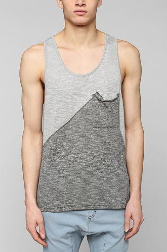 e3dd423f1f8b8 Standard Issue Contrast Seamed Tank Top - Urban Outfitters