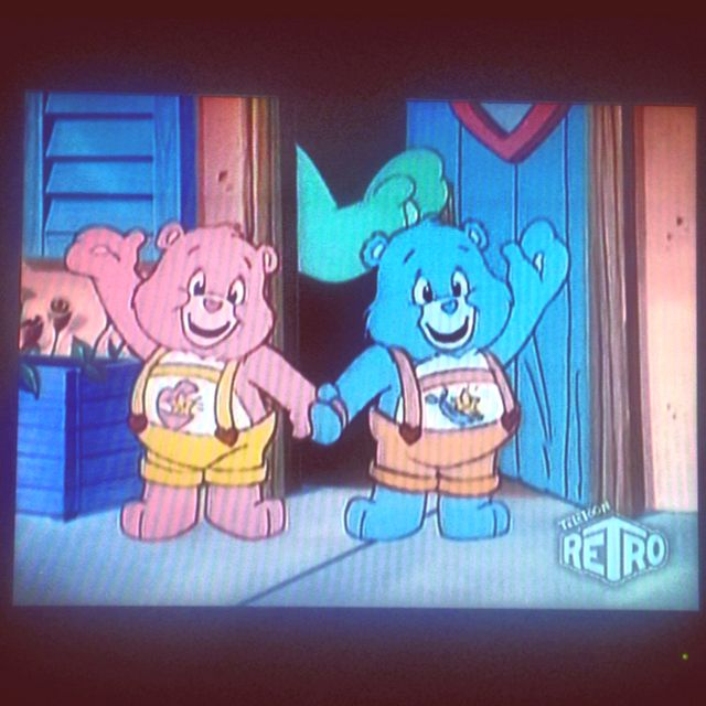 Care bears! On tv tonight! :) yay for retro television