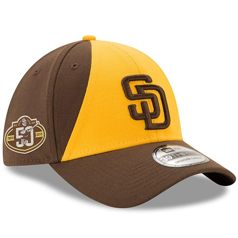 the latest bdb5d 7e473 Men s San Diego Padres New Era Gold Brown 50th Anniversary Team Classic  39THIRTY Flex Hat, Your Price   31.99