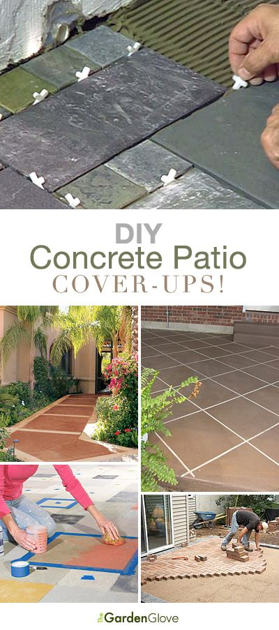 diy concrete patio cover ups lots of ideas tutorials - Concrete Tile Garden Decor