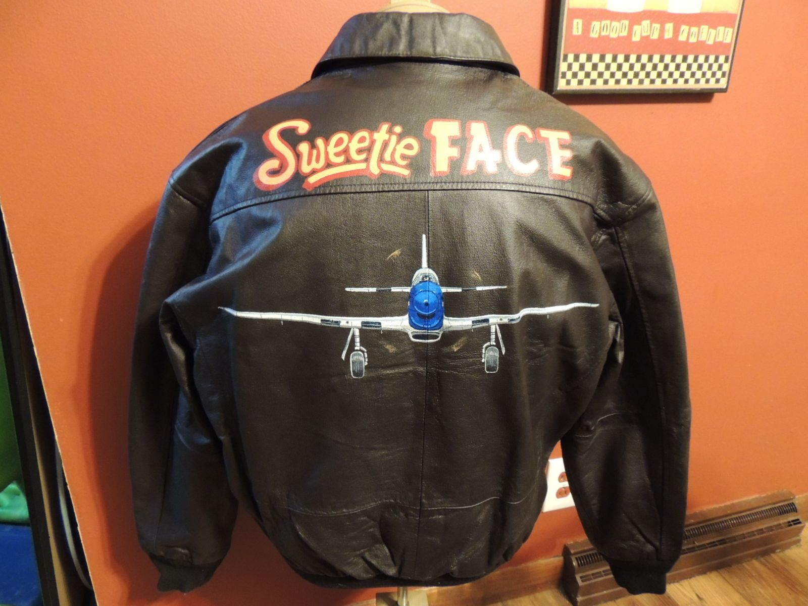 P51 Jacket painted by Dan McQuality of McQuality Nose Art