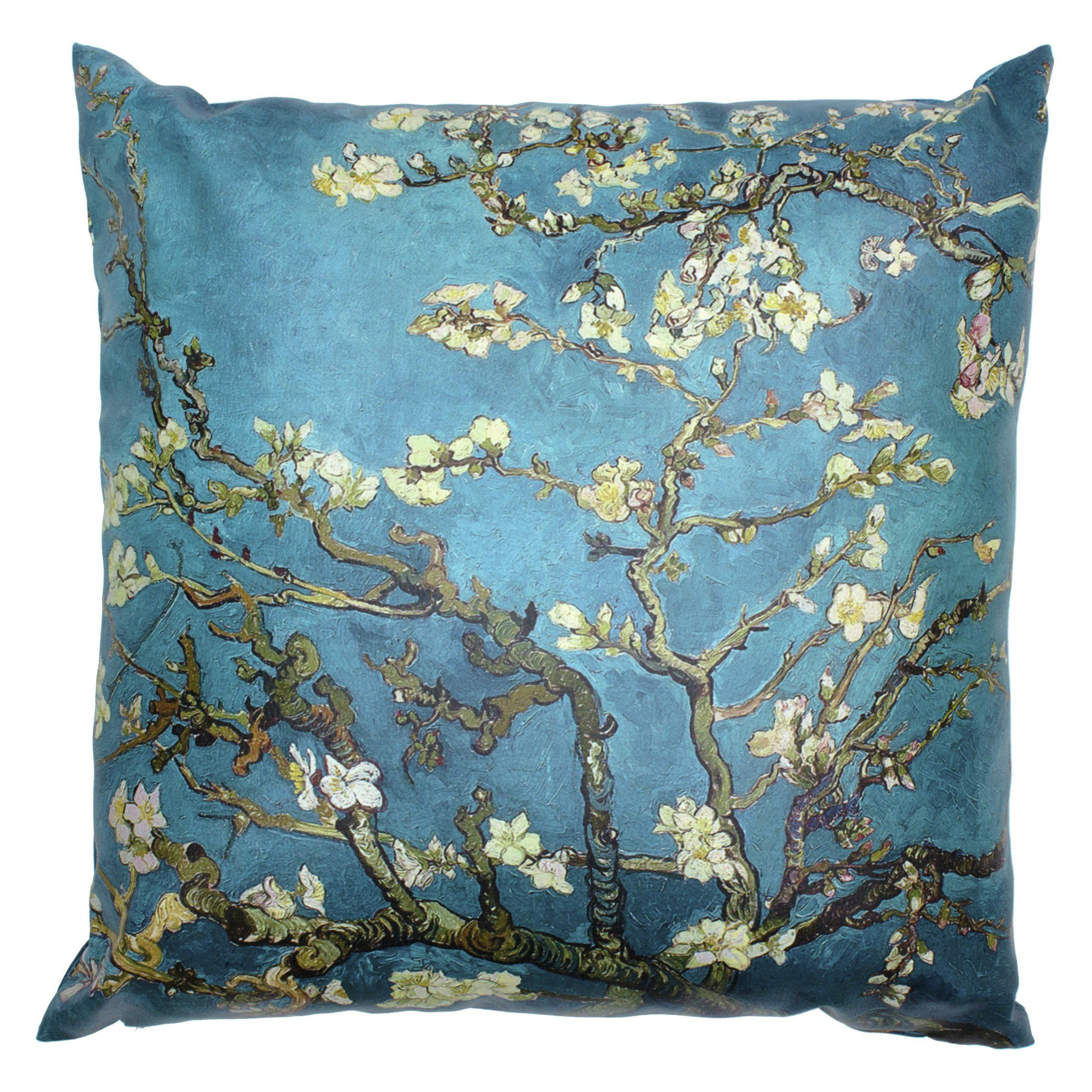 Oriental Furniture Van Gogh Almond Blossoms Decorative Pillow - CAN-PIL-VANG4-A