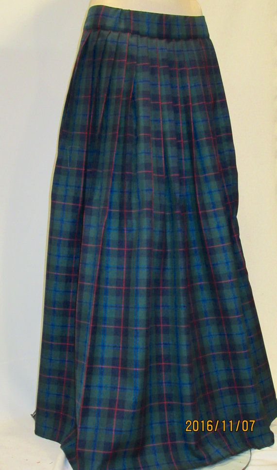 9db497d8c Armstrong Tartan Plaid Pleated Full Long Skirt by SOHOSKIRTS ...