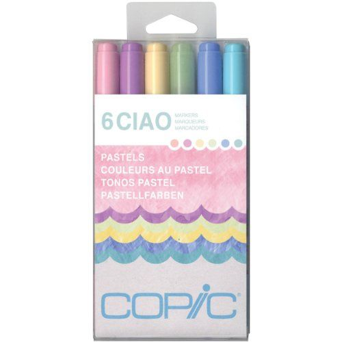 Copic Marker Ciao Markers, Pastels, 6-Pack Copic Marker http://www.amazon.com.mx/dp/B00BHLRNEM/ref=cm_sw_r_pi_dp_kExUwb1D5BEEP