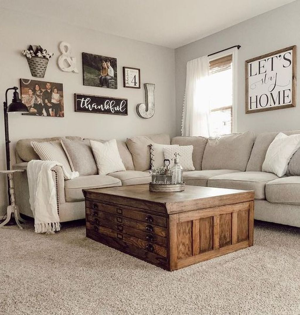 20 Cool Farmhouse Living Room Decor Ideas You Must Have Wall Decor Living Room Farmhouse Decor Living Room Farm House Living Room