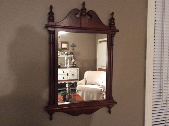 Antique Chippendale Mirror Vintage Mirror Mahogany Wall Mirror Mid