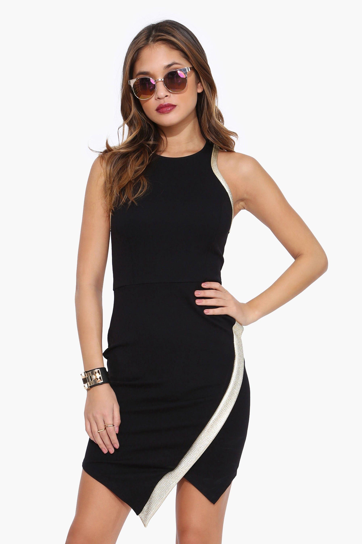Gold Trim Envelope Dress Dresses, Trendy dresses