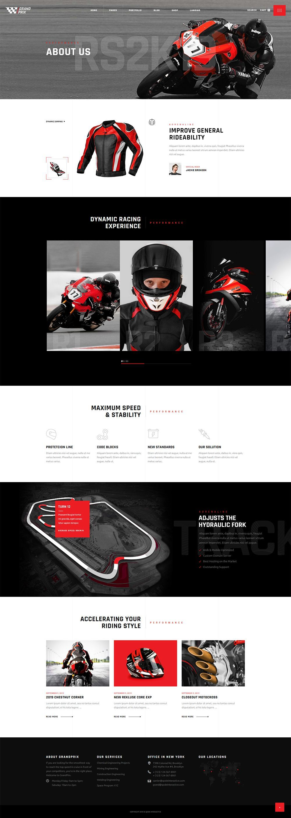 Introduce your biker shop or moto club today, all you need is GrandPrix WordPress theme. #wordpress #theme #design #webdesign #uxdesign #uidesign #responsive #designinspiration #webdesign #wordpresslove #template #layout #websitedesign #branding #websiteideas #webart #webpage #visual