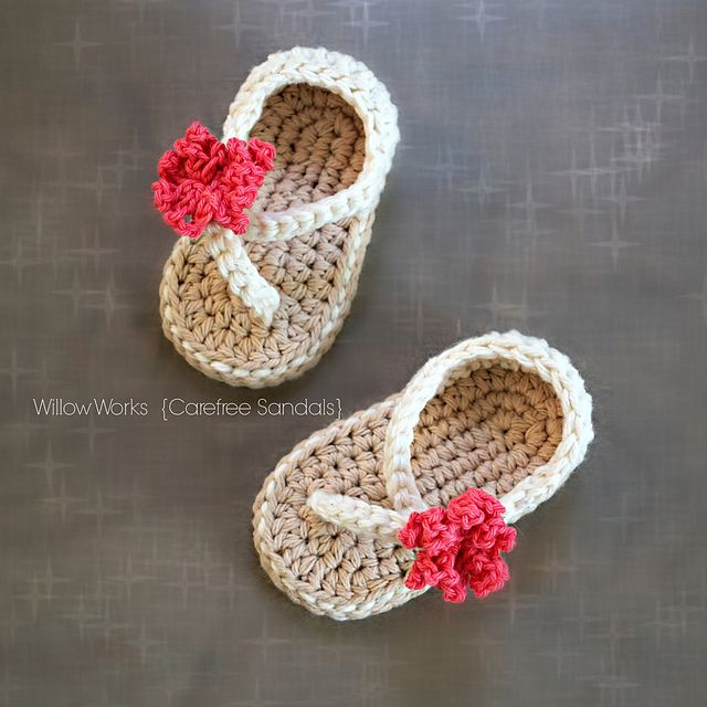 4d2adeb5be7 Ravelry  Carefree Baby Sandals pattern by Lorin Jean