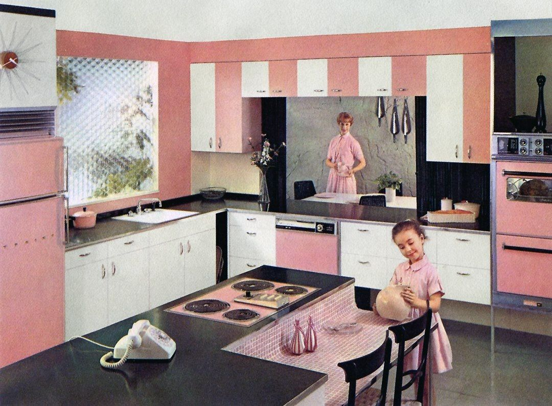 Pink Kitchen 1960s Pink Kitchen Like Mother Like Daughter Like Mother