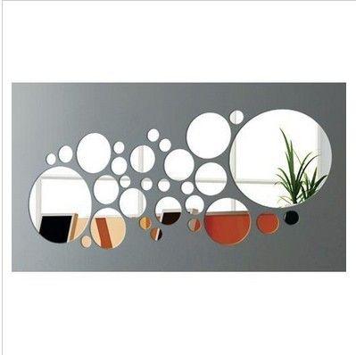 Decoração da casa de cristal tridimensional adesivos de parede decoração material tridimensional de parede espelho de cristal adesivos ali03 $19.92