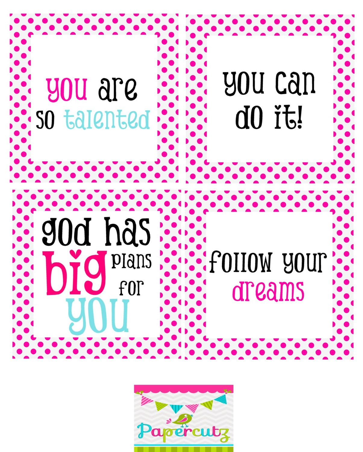 Printable Encouragement Cards With Images