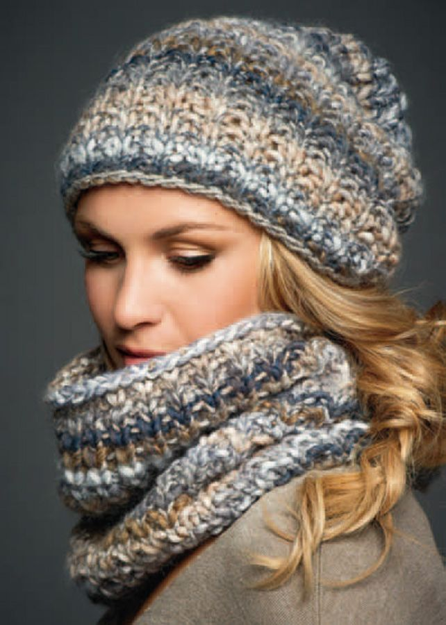 MÜTZE + LOOP Olympia | Pinterest | Knitting ideas, Knit crochet and ...