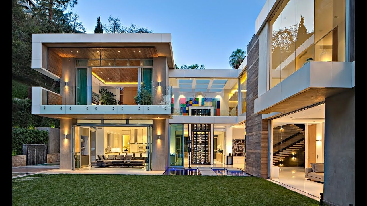 Stunning Ultra Modern Contemporary Luxury Residence In Beverly Hills Lo Modern Properties Mansions Homes Expensive Houses