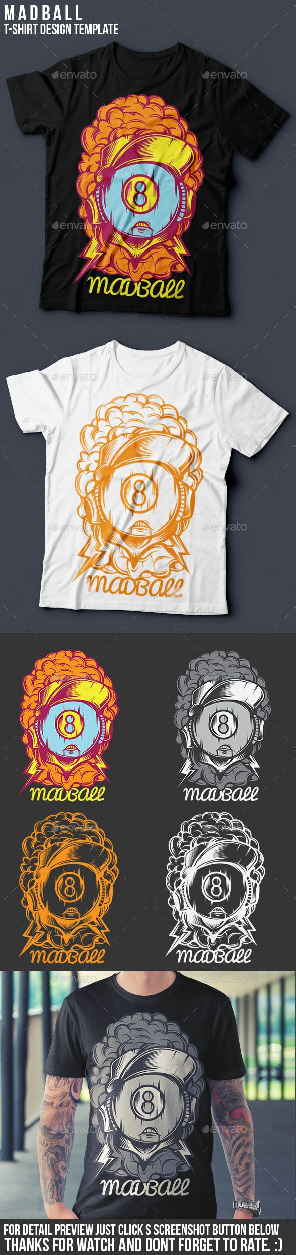 Madball T-Shirt Template | Template, Change colour and Fonts