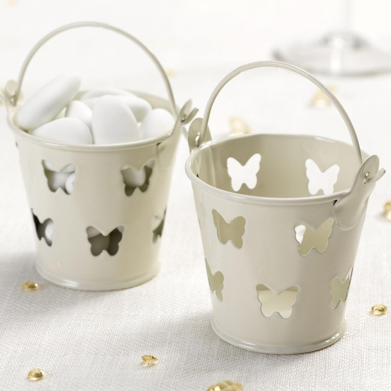 Elegant Butterfly Favour Pails - Ivory | UK Wedding Favours ...