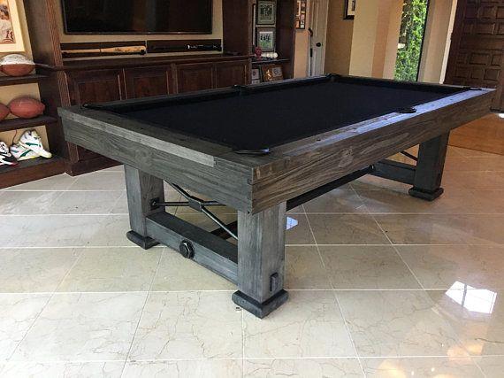 Rustic Rio Grande 8u0027 Slate Pool Table New Free Shipping Custom Stain  Options | Slate Pool Table, Pool Table And Slate