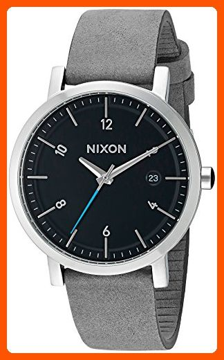 Nixon Men S Rollo 38 Quartz Stainless Steel And Leather Watch