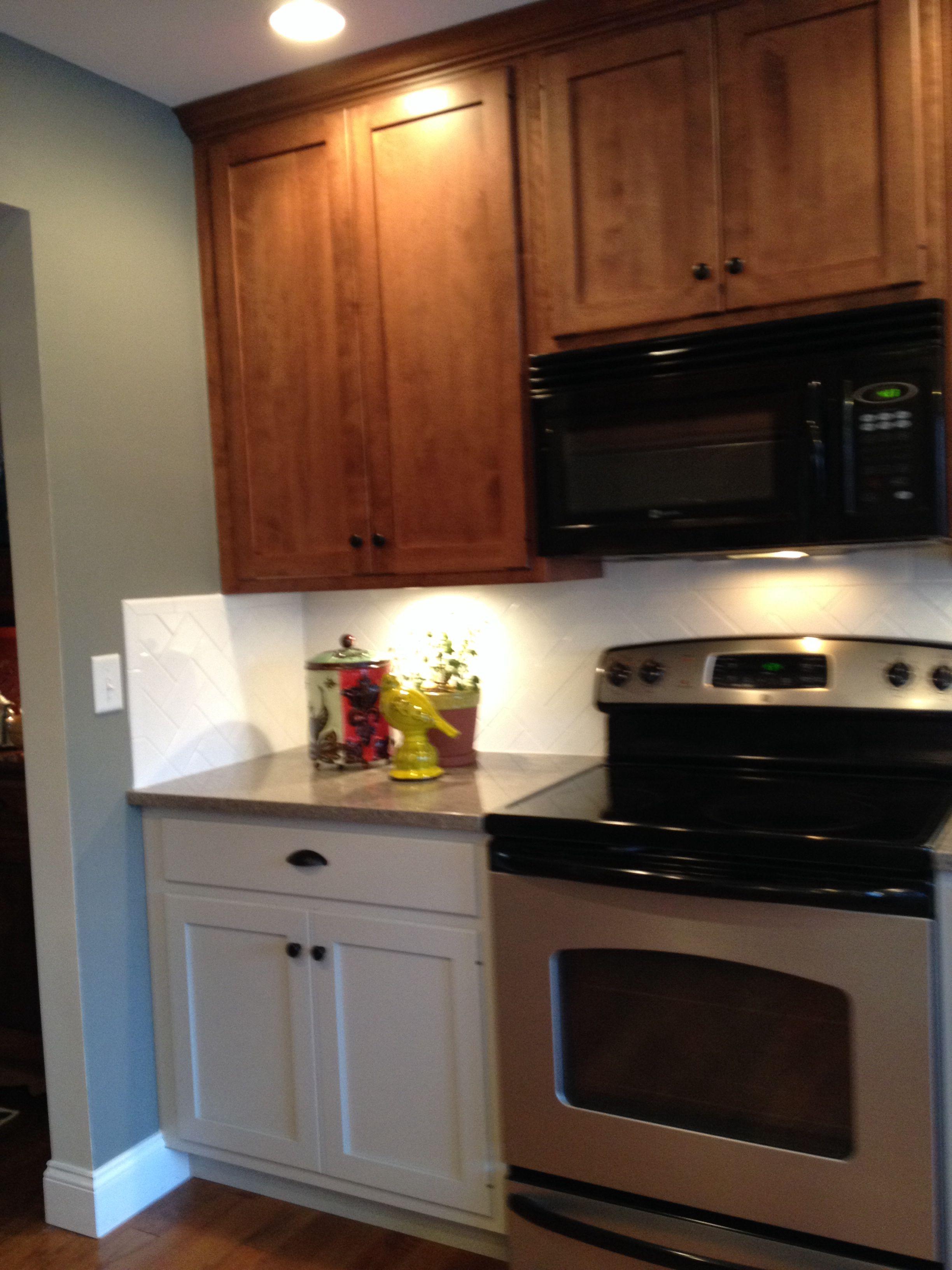 Gray Kitchen: Quartz Counter Tops Distinctive Tile And