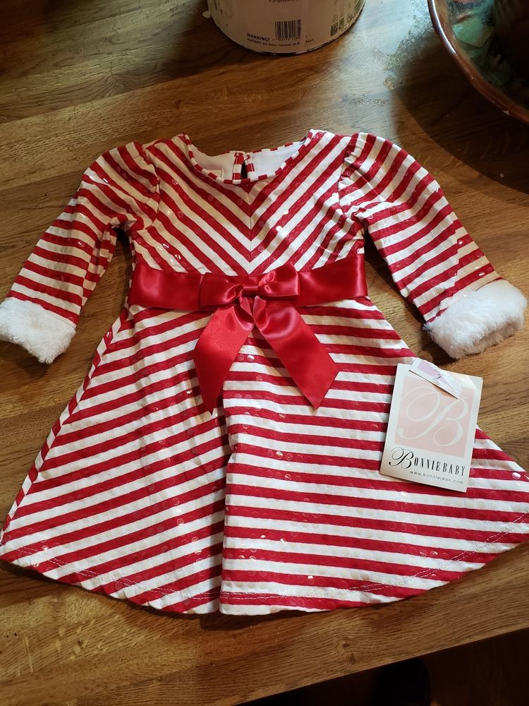 Bonnie Baby Christmas Dress Infant 6 9 Month Brand Mew With Tag Red Amd White Fashion Clothing Shoes A Christmas Dress Baby Christmas Dress Girl Outfits