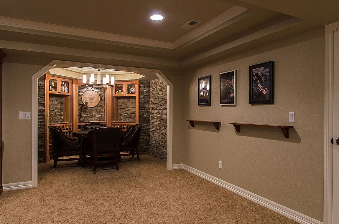 25 inspiring finished basement designs basements for Basement options