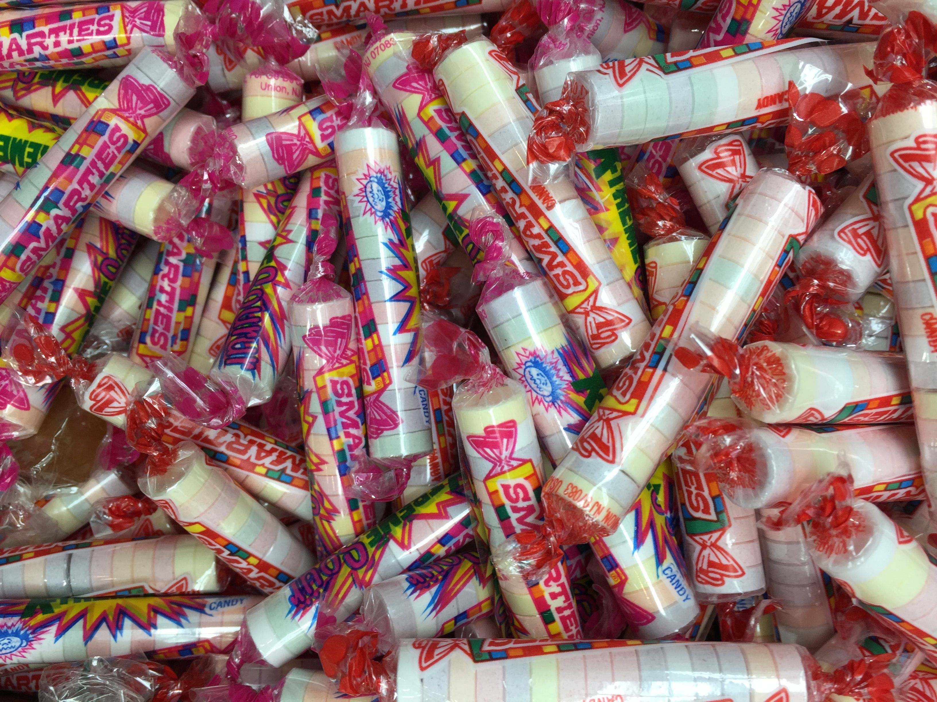 Smarties - chalky/powdery, sour/bitter and always tempting