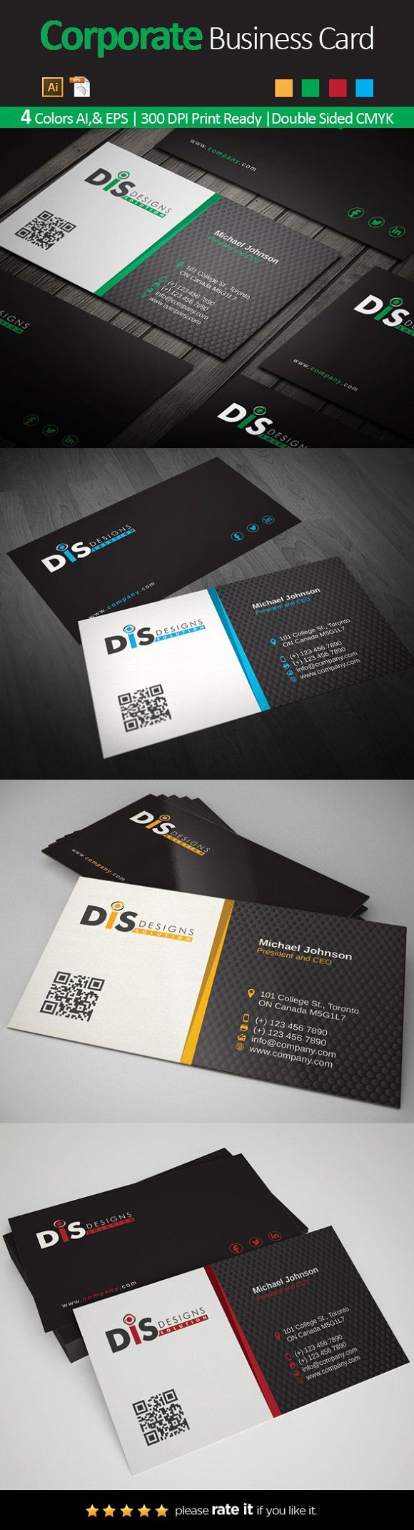 Business Card 35 | Pinterest | Business cards and Card templates