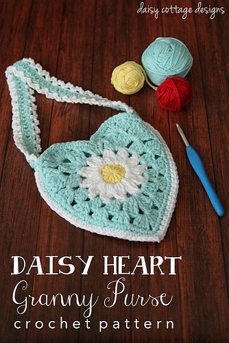 Small Purse Crochet Pattern by Daisy Cottage Designs, via Flickr