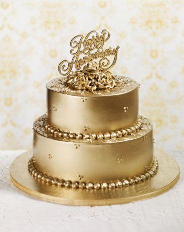 Gold Anniversary Cake Anniversaries Cake and Gold cake