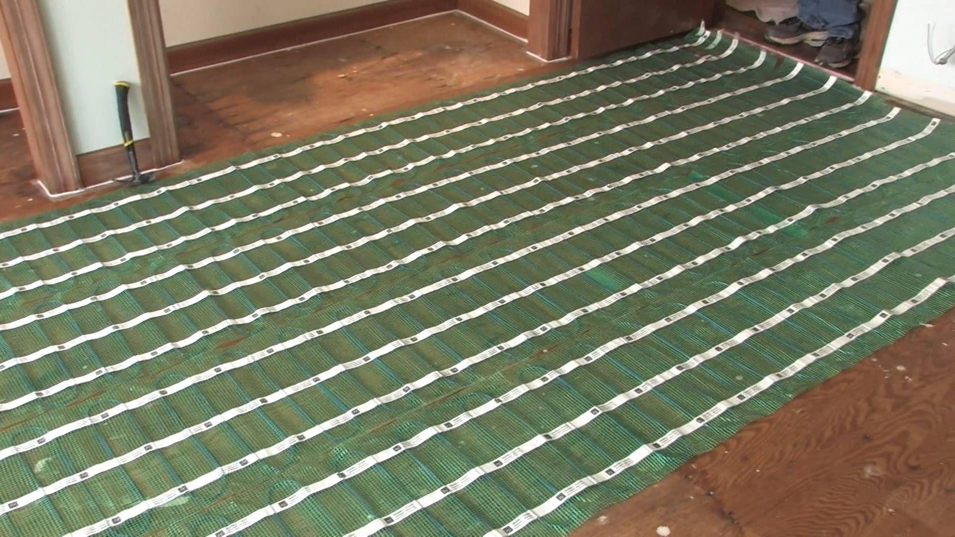 luxury vinyl tile underfloor heating